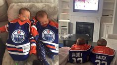 Cam Talbot's 4-day-old twins root him on