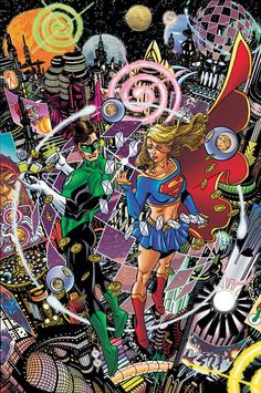 Green Lantern and Supergirl by George Perez