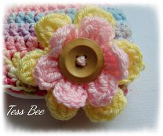 Chunky Baby Girl Hat Chunky Flower Hat Statement Flower One Baby Beanie Hats, Baby Girl Hats, Girl With Hat, Flower Hats, Baby Flower, Chunky Babies, Pink Lemon, Birth Gift, Big Flowers