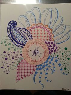 Zentangle Doodle #Edding #fineliner