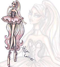 Hayden Williams Fashion Illustrations | Couture Ballet by Hayden Williams: 'Pretty En...