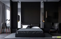 Stylish bedroom visualization