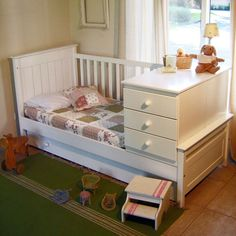 cuna convertible Baby Bedroom, Baby Boy Rooms, Baby Room Decor, Nursery Room, Crib And Changing Table Combo, Baby Box, Woodworking For Kids, Home Room Design, Diy Bed