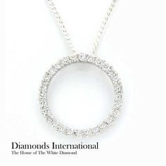 30 best diamond necklaces pendants images on pinterest diamond 18ct white gold diamond circle pendant product reference 1100638 diamonds diamondsinternational aloadofball Gallery