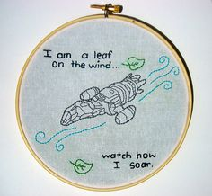 I'm a leaf on the wind embroidery... Brilliant!! Need more Captain Tight Pants in my life :)