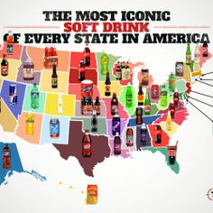 The iconic soft drink of every state in America...oh yea!  Texas is right on!!!  Dr Pepper fan....right here!
