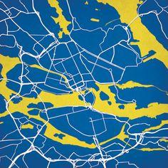 Stockholm, Sweden | City Prints Map Art