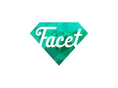 Facet logo by Sean Farrell @Sean Farrell http://dribbble.com/shots/272359-Facet-Logo?list=tags=logo