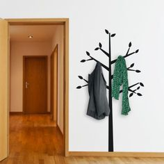 Combine this tree wall sticker with wall hooks to obtain the most original coat hanger!This tree wall decal is not only decorative but functional as well!