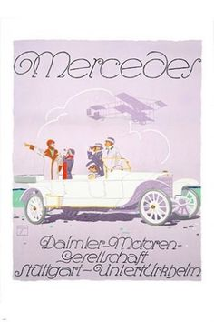 vintage ad poster MERCEDES HOHLWEIN classic sports car COLLECTORS 24X36 new