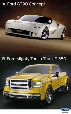 Ford Gt-90 Yellow Tonka F-350 concept vehicles