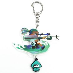 Splatoon - Ikasu Acrylic Keychain w/Rubber: Boy (3K Scope)