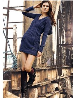 Superdry Knitted Riding Hood Dress