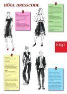 Hubauer Karolin KLIMEK entwarf für das renommierte SCHUHHAUS HÖGL eine elegante Glückwunschkarte für Kunden und illustrierte den 'Dresscode' für Verkäufer in den internationalen Läden.