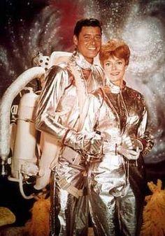 """Lost in Space"" (1965-68)   Guy Williams as John Robinson, June Lockhart as Maureen Robinson"