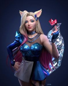 League Of Legends Characters, Lol League Of Legends, Ahri League, Iron Man Avengers, Evil Art, Female Character Design, Character Art, Anime Drawings Sketches, Cool Girl Pictures