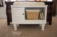 Small table/bench legs add on. Refurbished Furniture, Repurposed Furniture, Furniture Makeover, Diy Furniture, Repurposed Items, Furniture Refinishing, Furniture Stores, Furniture Projects, Country Girl Home