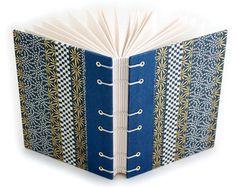 Coptic Stitch Journal hand drawn geometric triangle cover