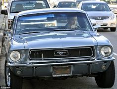 Actress Amber Heard pictured driving her 1968 hardtop #Mustang