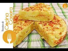 Tortilla de patatas casera. Receta clásica Española | Recetas de Cocina Casera - Recetas fáciles y sencillas