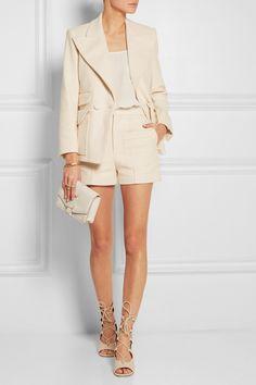 Chloé Double-breasted woven stretch-cotton blazer NET-A-PORTER.COM