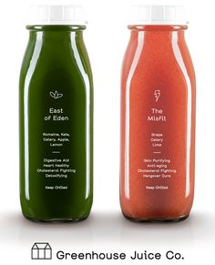 // Branding for Greenhouse Juice Co