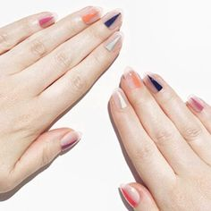 NEXT weeks $40 #gelSpecial inspired by the amaze @jennahipp #negativespacenails on nude background! Choose ANY color combo!! Book online or call 646.410.2928 #VanityProjects