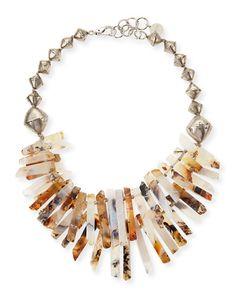 Y25QX NEST Jewelry Montana Agate Point Necklace