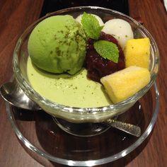Red bean matcha pudding with machiiii. Yayoiken, Sg.