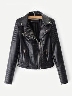 ddff9e53940 Faux Leather Biker Jacket