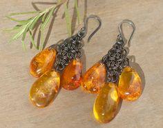 Honey Baltic amber earrings Baltic amber by FlowerOfParadise