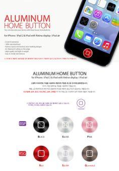 Botones elaborados en aluminio que se adhieren firmemente sobre el botón de inicio del iPhone (y/o el iPad) para protegerlo, y al mismo tiempo, le brindan elegancia y personalidad al dispositivo.  Son tres colores diferentes para que los intercambies cuando quieras (negro, blanco y rosado).