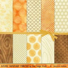 Mixed media paper- these instant download, printable papers work well for mixed media projects because they include watercolor touches, wood patterns, hints of gold and textured/distressed grunge backgrounds.