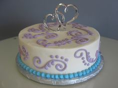 A pretty wedding cake for a lovely couple.