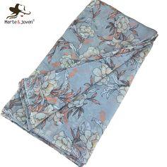 Marte&Joven Elegant Women Floral Printing Big Size Gray Scarves Stoles Ladies Fashion Autumn/Winter Warm Pashmina Shawls Wraps. Yesterday's price: US $16.00 (12.98 EUR). Today's price: US $7.68 (6.23 EUR). Discount: 52%.