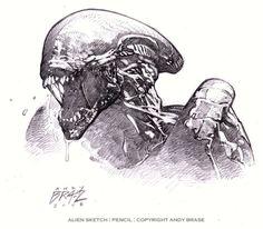Alien Sketch by andybrase on DeviantArt