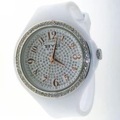 orologio in gomma bianca