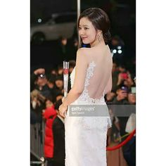 Mokn chae won arrives at the red carpet of the 2013 KBS drama awards at KBS Hall on December 31, 2013 in seoul. South korea #moonchaewon