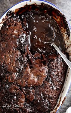 Hot Fudge Chocolate Pudding Cake is extremely easy to make! A rich chocolate fudge sauce forms underneath a layer of chocolate cake while baking, by itself!   http://cafedelites.com