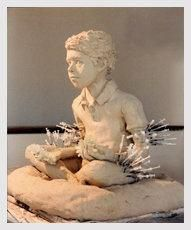 No words necessary to describe a week in the life of a T1 child. Actual sculpture by Pat Hennessy Kodet, a T1 mom.