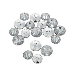 Silver Jewel Buttons - OrientalTrading.com $6.45 for 24 pieces