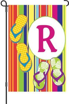 Premier Kites 51457 Summer Monogram Garden Flag, Letter R, 12-Inch by Premier Kites. $13.00. Available in letter R. Measures 12-inch width by 18-inch length. High quality fade resistant summer monogram garden flag is perfect for the home or cottage. Very useful to mark group areas, sections or locations. Letters can be read correctly on both sides of the flag. This high quality fade resistant summer monogram garden flag is perfect for the home or cottage. Very useful to...