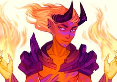 previews of the demon comissions I had been working on this year
