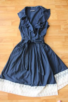 Add lace to bottom of dress for more length of just to make cute.