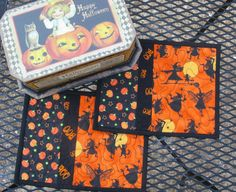 Halloween Quilted Mug Rugs Snack Mats - Set of 2. $15.00, via Etsy.