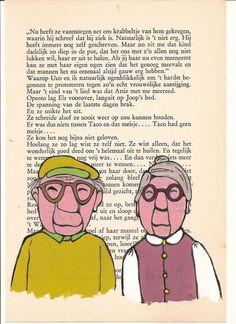Handmade illustration Elderly Couple  Gift by korneliaillustration, €15.00