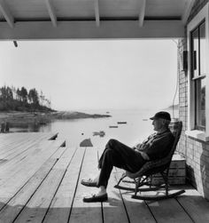 Old Man in Rocker, Maine 1967, photo:Berenice Abbott