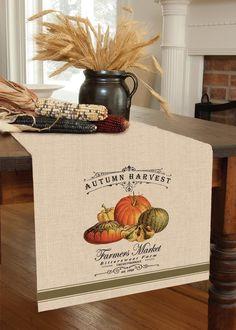 Autumn Harvest Table Runner