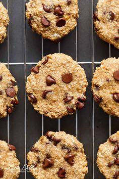 2-Ingredient Healthy Breakfast Cookies | https://cafedelites.com