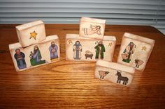 @Lisa Phillips-Barton Zirker Here's an easy nativity idea for ya. You could probably even use your cricut cartridge and make the people that way